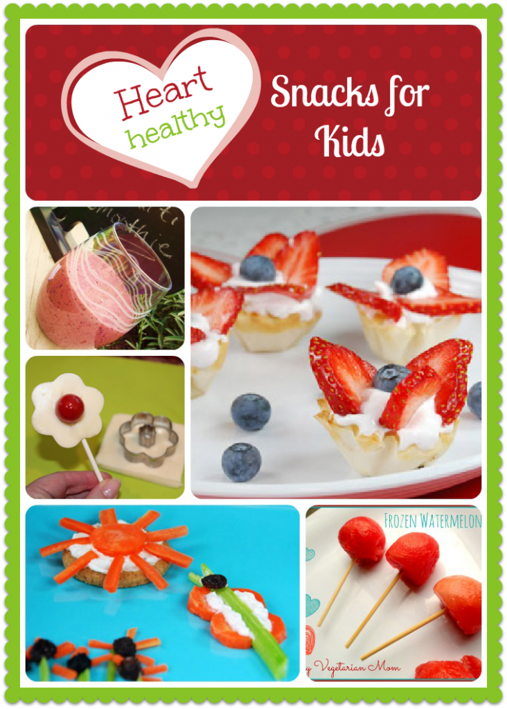 Heart Healthy Snacks for Kids Roundup