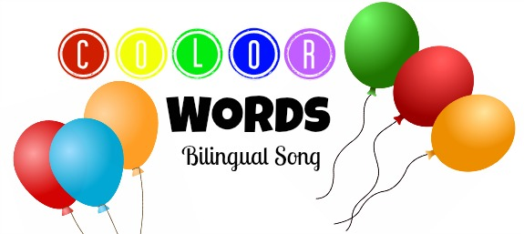 color words song, bilingual color words