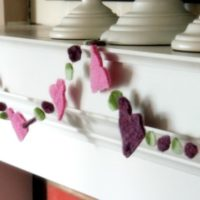 Felted Sweater Sweetheart Garland