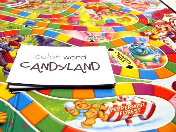 Candy Land Color Words Practice