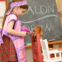 Pretend Hair Salon for Dolls