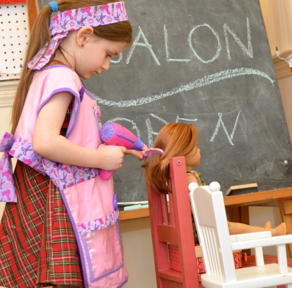 Pretend hair salon for dolls inner child fun for How to make a beauty salon at home