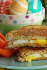 Grilled Egg and Cheese Sandwich Recipe to Use Leftover Easter Eggs