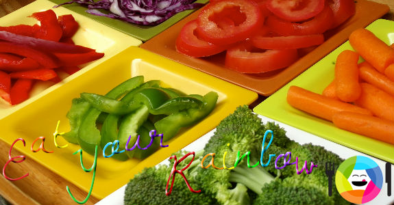 Eat Lots of Veggies from all Colors of the Rainbow!
