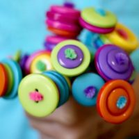 DIY Button Flower Learning Game for Kids