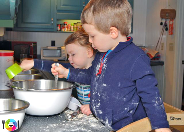 Making Blueberry Muffins in the Learning Tower