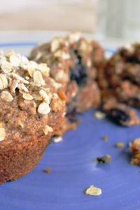 Blueberry Wheat and Oat Muffins Recipe