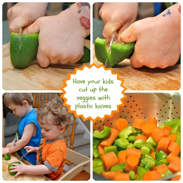 Kids Can Cut Veggies with Plastic Knives