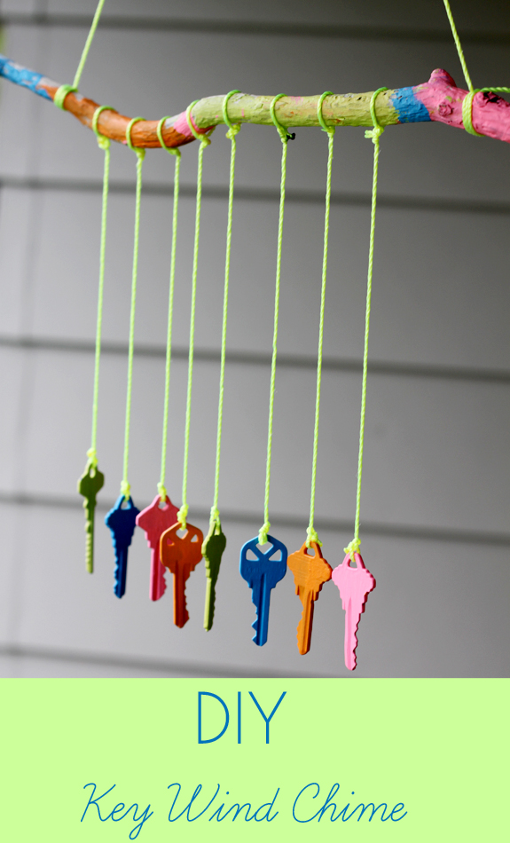recycled crafts for kids diy key wind chime inner child fun ForWind Chime Craft Projects