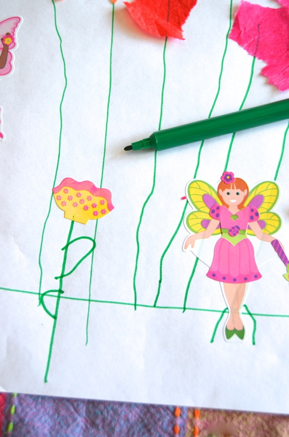 Rainy Day Fun: Fairy Flower Garden Mural