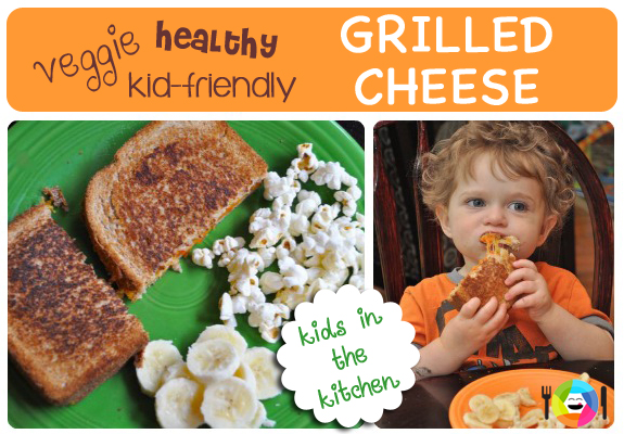 Cook Veggie, Healthy Grilled Cheese Sandwiches with Your Kids