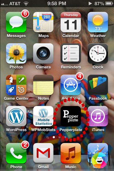 Pepperplate App for Menu Planning