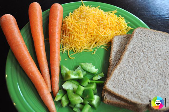 Healthy Grilled Cheese Sandwiches - Ingredients