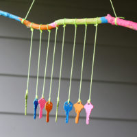 Recycled Crafts for Kids: DIY Key Wind Chime