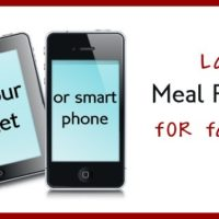 Lazy Meal Planning On Your Smart Phone and Tablet