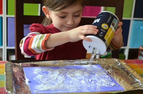 Exploring Salt and Watercolors from The Artful Parent