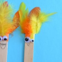 Kid Craft — Silly Stick Puppets