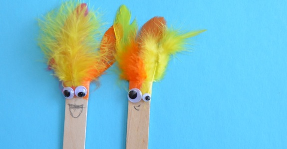 Silly Stick Puppets