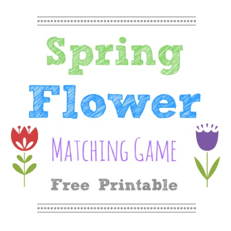 Spring Flower Matching Game - free printable