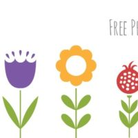 Free Printable — Spring Flower Matching Game