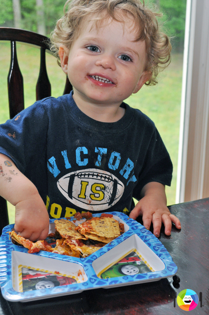 Even toddlers can make and eat nachos!