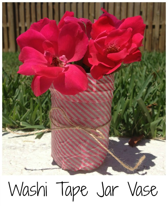 Washi Tape Jar Vase