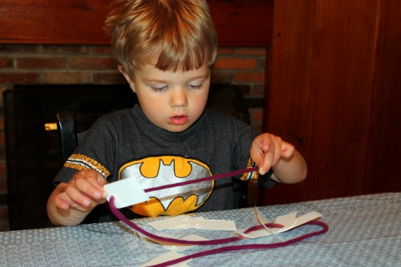 Learning with Ordinary Household Items- Lacing