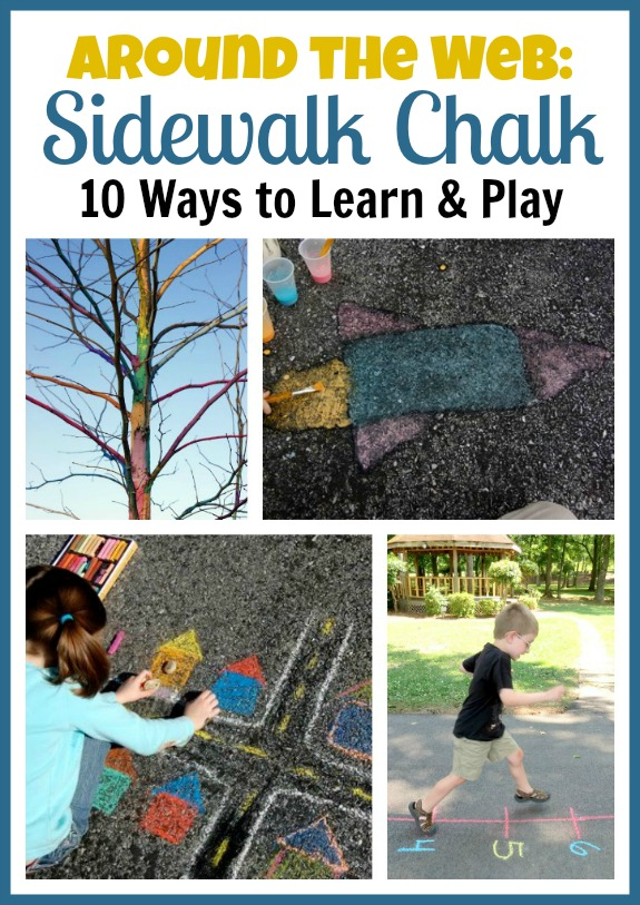 Around the Web-10 Ways to Learn and Play with Sidewalk Chalk