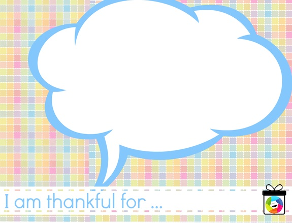 Printable Gratitude Cards for Kids  - I am Thankful For