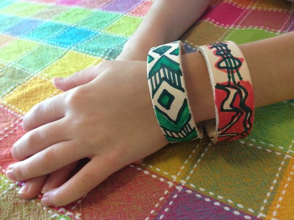 Kid Craft -- Simple Leather Bracelets
