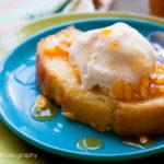 Homemade Peach Ice Cream (USA)