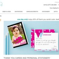 Deal of the Day — 50% Off Custom Thank You Cards