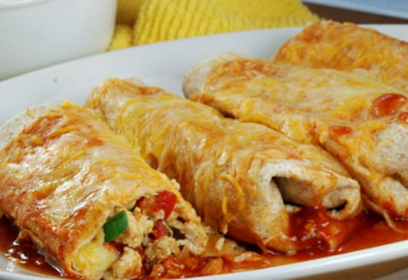 Turkey Enchiladas (Mexico) -- Part of the Kids' Culinary Passport to cook and craft around the world.