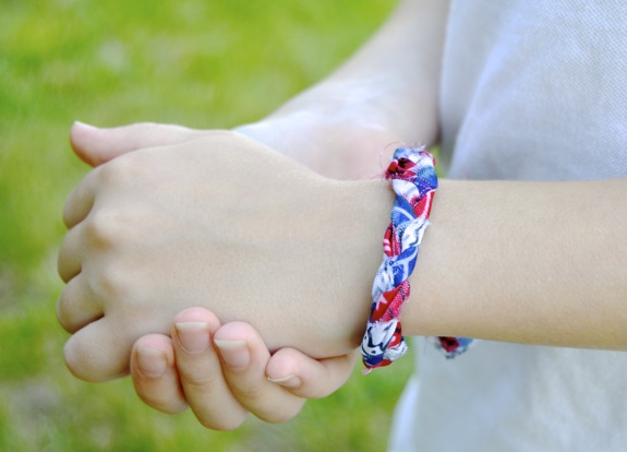 Red, White, and Blue Friendship Bracelets