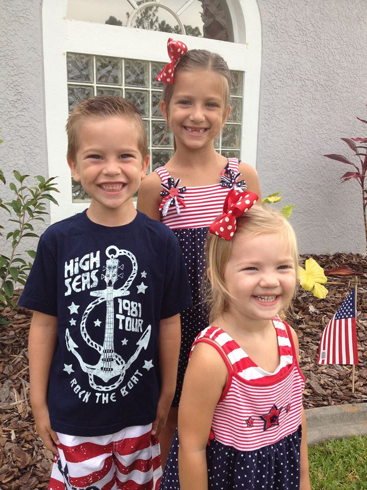 happy kids on the fourth of july