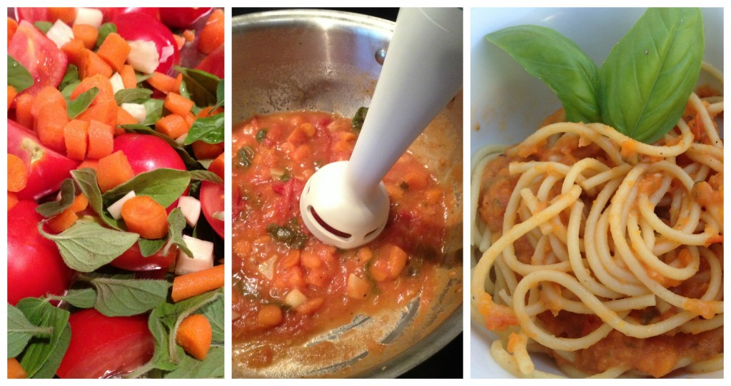 Easy Spaghetti Sauce (Italy) -- Kids' Culinary Passport sauce collage