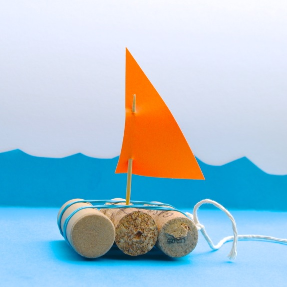 Quick Craft for Kids -- DIY Toy Boats to race in the creek.
