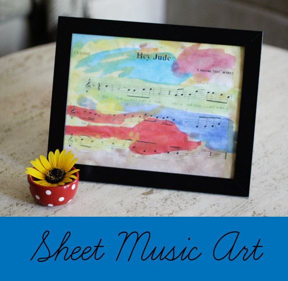 Such a sweet gift idea for a music lover! Or anyone who has their name in a song --- you could even do this with your wedding song!