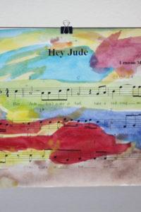 Homemade Gift: Sheet Music Art