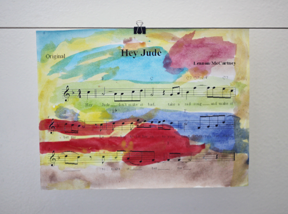 sheet music art - super simple handmade gift idea