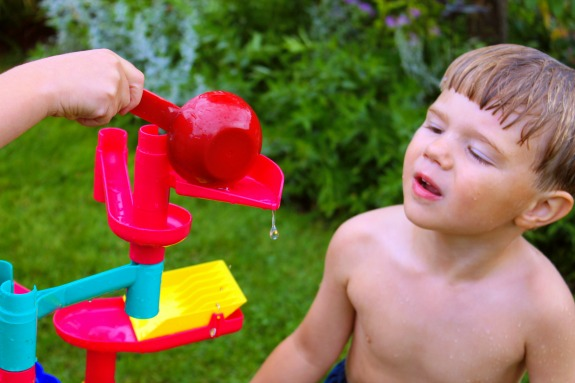 Water Fun with a Marble Run