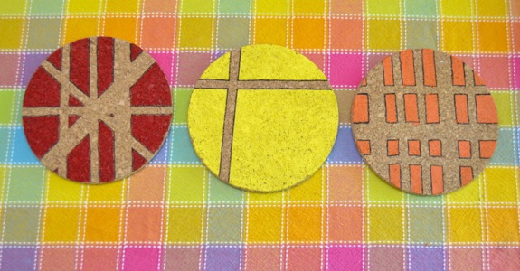 Quick Craft: Modern Hand Painted Trivets