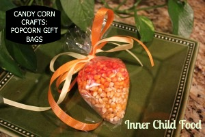 Candy Corn Crafts Popcorn Gift Bags  Inner Child Food
