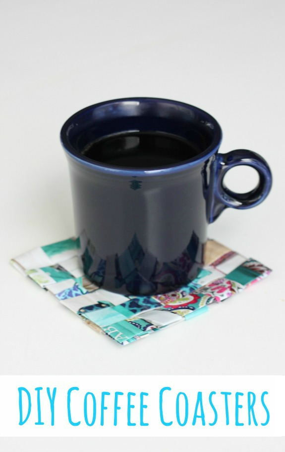 DIY Coffee Coasters Upcycled from Catalogs!  The perfect homemade gift for a coffee lover!