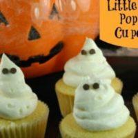 Halloween Food Ideas: Ghost Popping Cupcake