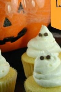 Halloween Food Ideas: Ghost Popping Cupcake