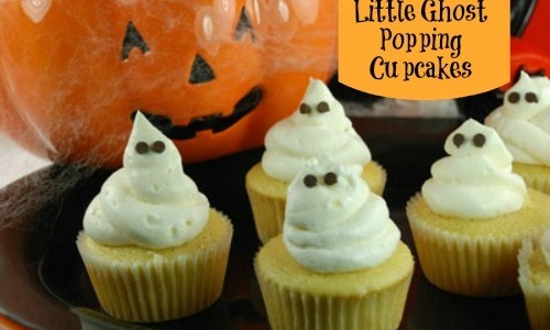 Halloween Food Ideas - Ghost Popping Cupcakes - Inner Child Food