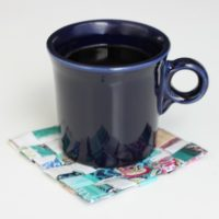 Homemade Coaster Gift for a Coffee Lover