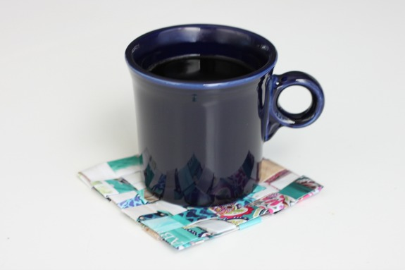 Upcycle a Catalog into a Coaster!  Perfect for a Coffee Lover!