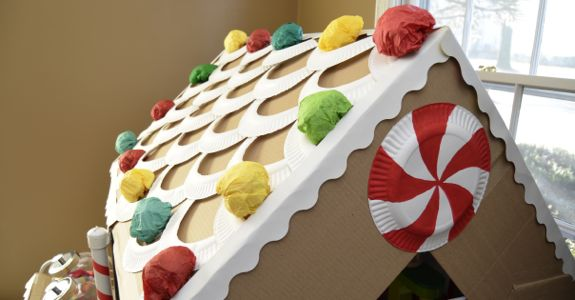 Amazing Cardboard Gingerbread House Life Size Inner Child Fun Download Free Architecture Designs Scobabritishbridgeorg